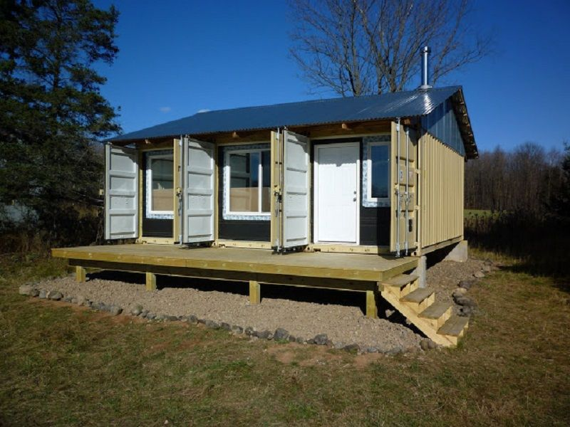Diy house from shipping container