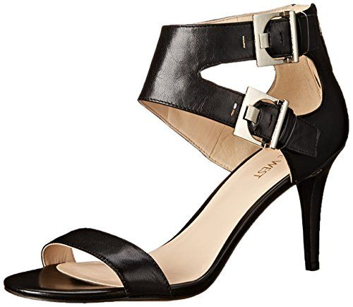 79396b275716 Nine West Women s Intwyne Leather Dress Pump Adjustable ankle instep strap  with buckle closure Back-zipper entry Cushioned footbed Faux leather lining  Faux ...
