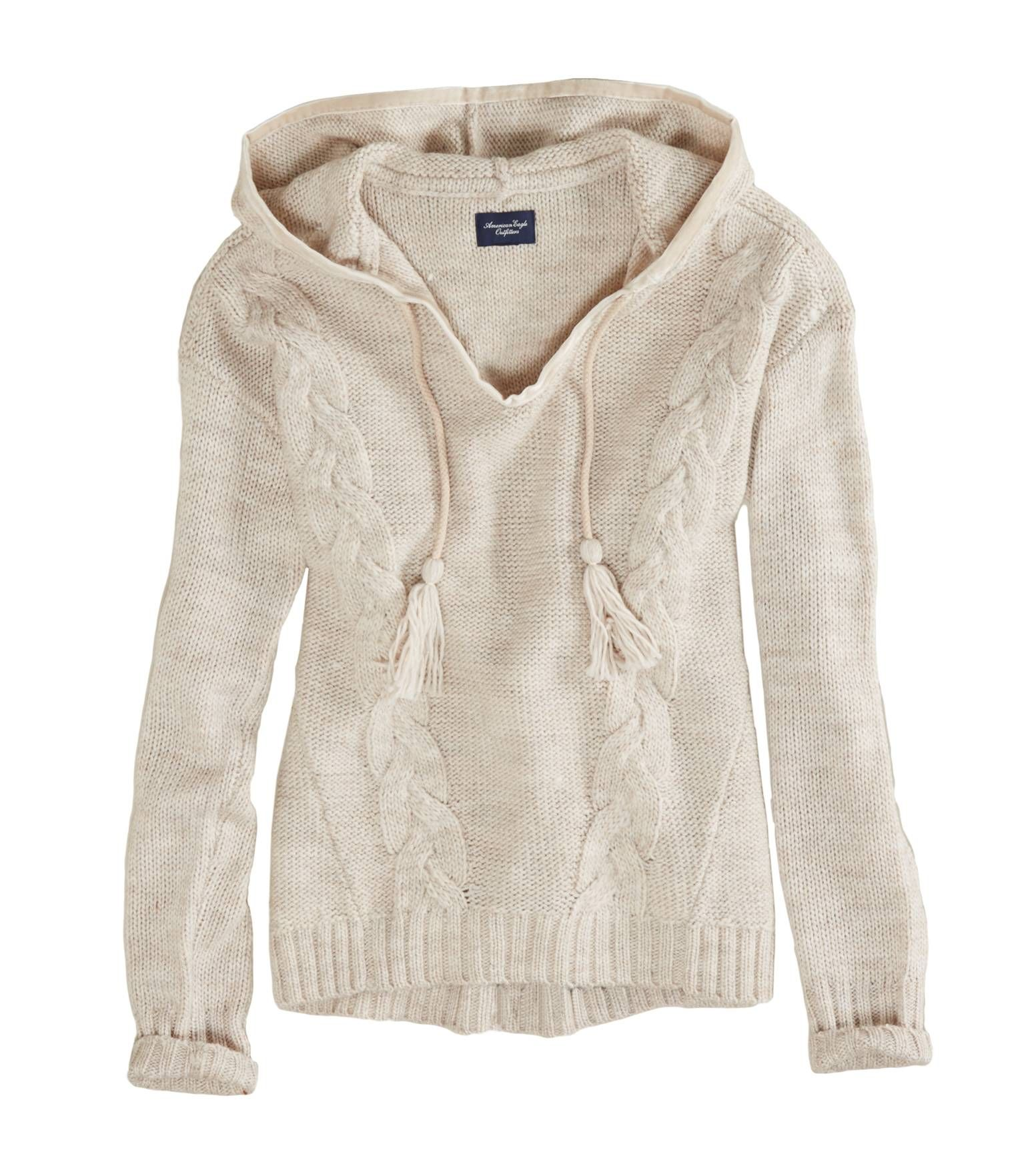$29.95 AE Cable Knit Sweater hoodie | Fashion | Pinterest ...