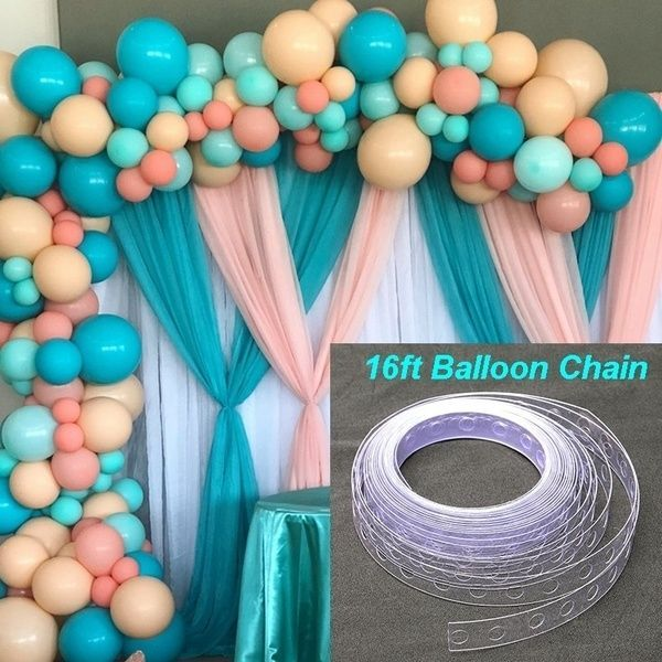 16Ft Balloon Decorating Strip Balloon Arch Chain Link with Precut Holes #balloonarch 16Ft Balloon Decorating Strip Balloon Arch Chain Link with Precut Holes | Wish #balloonarch