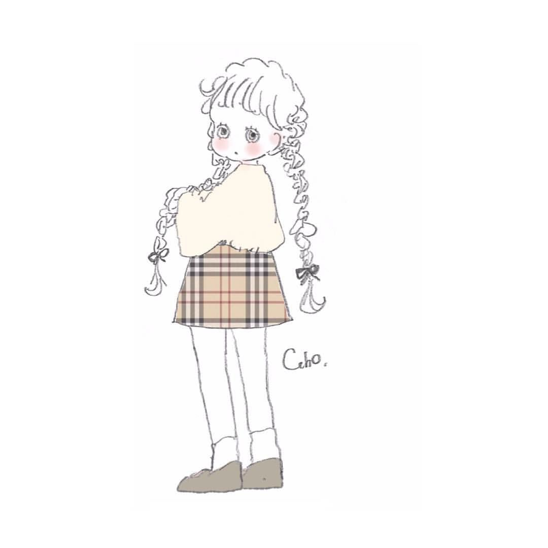 いいね 4 271件 コメント17件 Cahoさん Caho0811 のinstagramアカウント バーバリーのスカートが欲しい Burberry Illustration キュートなスケッチ アイコン かわいい キュートなイラスト