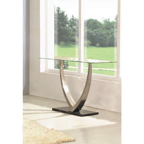 Cesar Glass Top Console Table Buy Console Tables Modern Oak