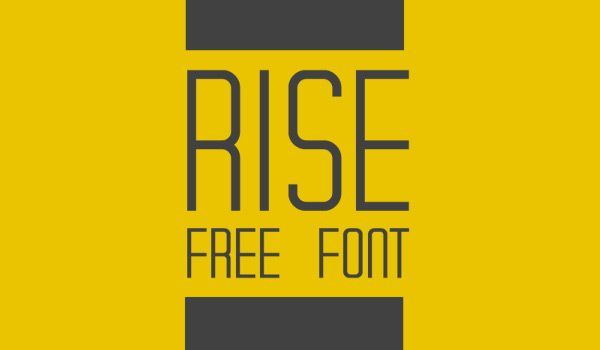 RISE Free Typeface by Benito Ruiz in 27 Fresh and Free Fonts for June 2014