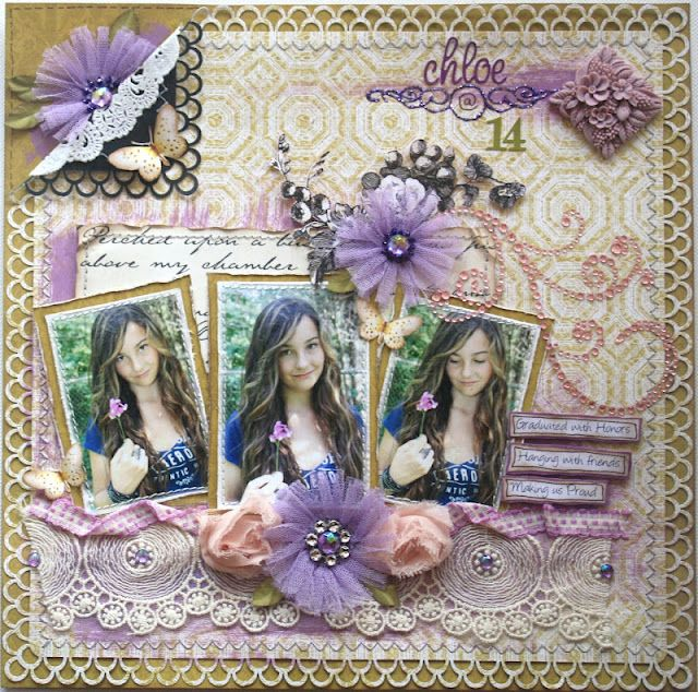Scrapbook layout made by design team member Gabrielle Pollacco using Themed paper in a non-theme way
