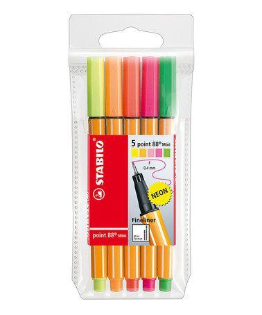 Five-Piece Point 88 Fineliner Pen Set #zulily #zulilyfinds