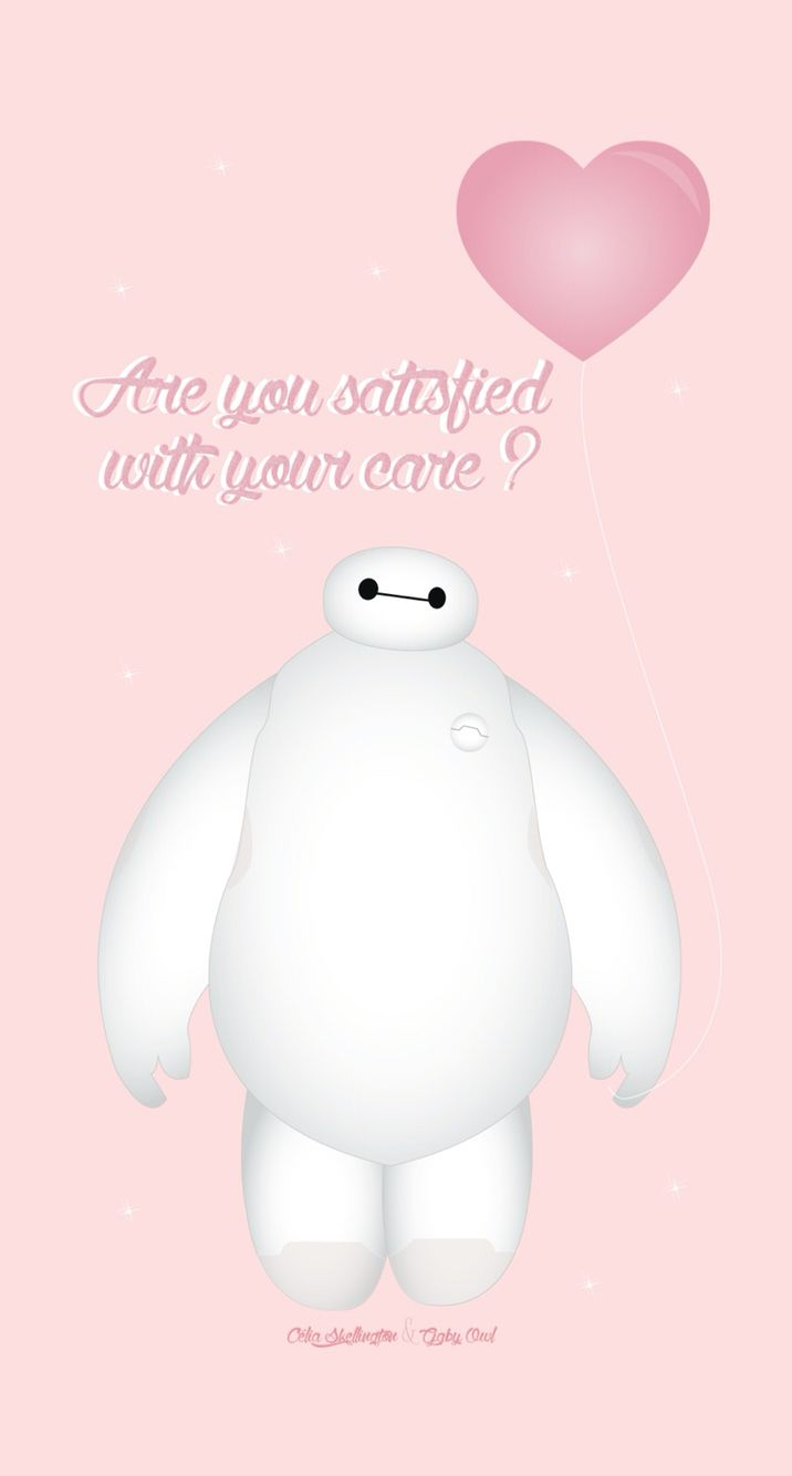 Baymax Cute Pink Disney Iphone Wallpaper 壁紙 イラスト 壁紙