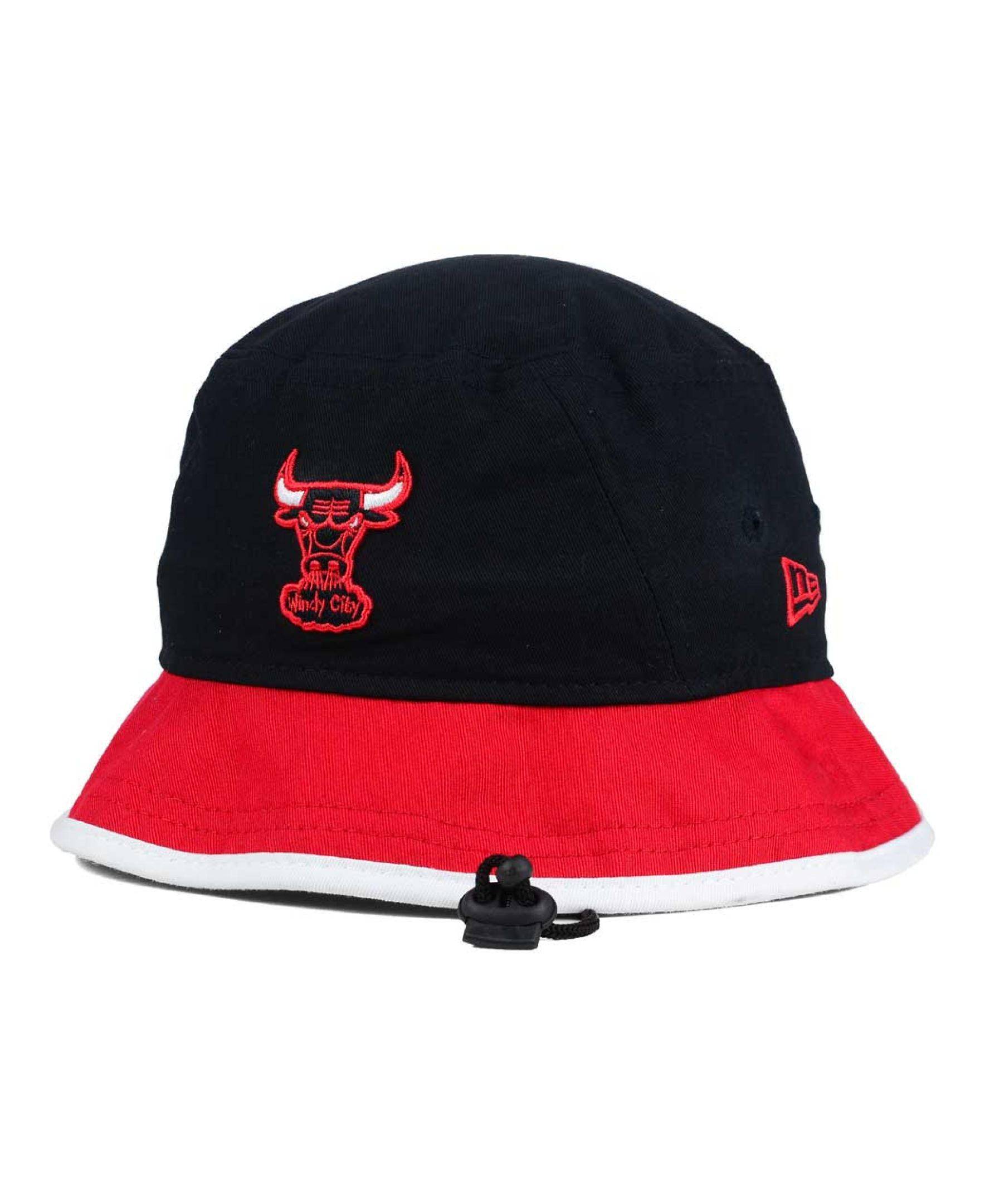 bc3a6a777f2 New Era Chicago Bulls Black-Top Bucket Hat