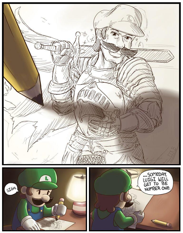 Sad Luigi☹️ | Luigi | Super mario, Super mario bros, Mario