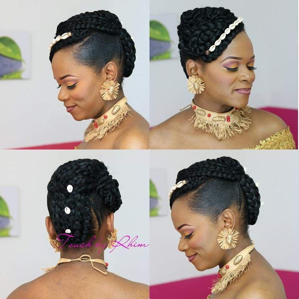 Coiffure Mariage Coutumier Gabon Gabonese Wedding Hairstyle Traditionnal African Wedding Hairstyl African Wedding Hairstyles African Wedding Wedding Hairstyles