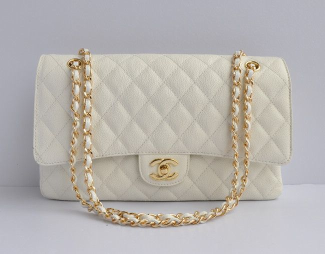chanel white caviar gold chain flap bag 1113 chanel handbags pinterest caviar chains and. Black Bedroom Furniture Sets. Home Design Ideas