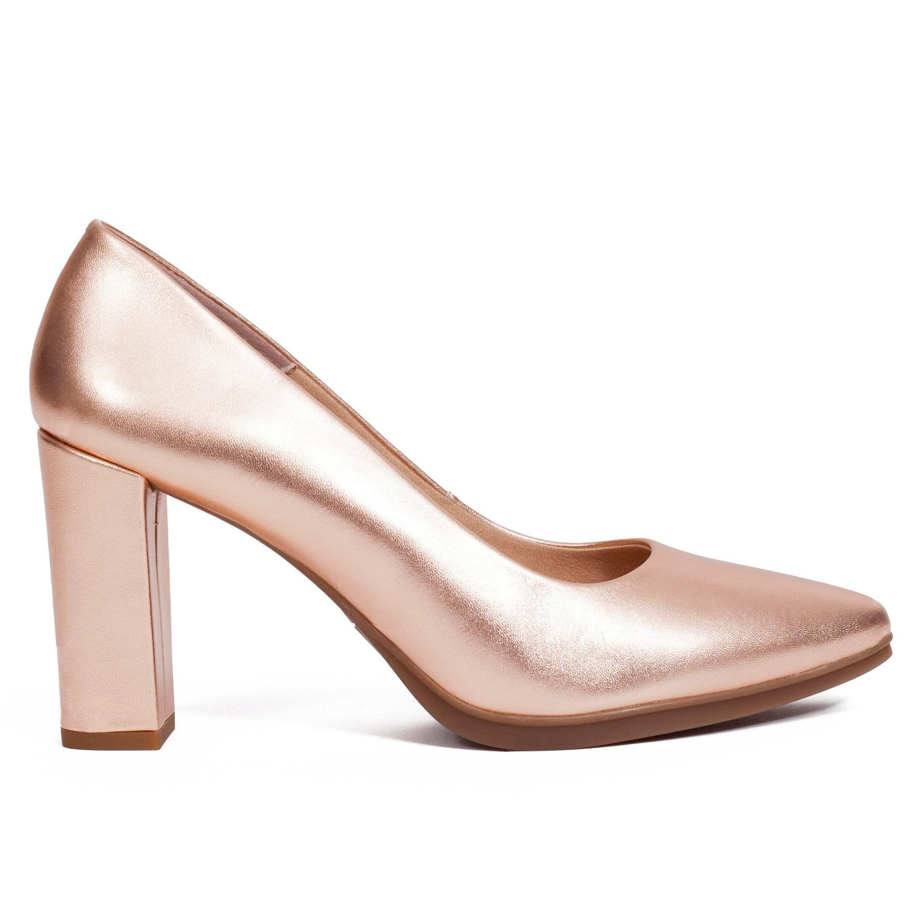 Zapato de tacón Oro Rosa piel Urban - miMaO Zapatos Tienda Online – miMaO  ShopOnline e69de833ef32