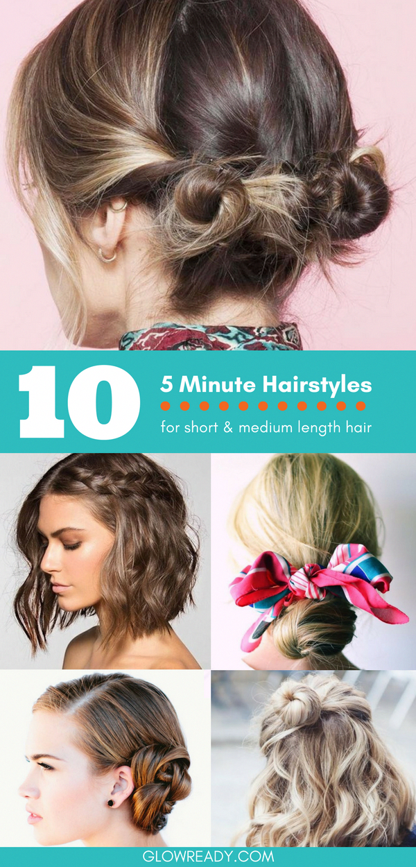 Quick and easy hairstyles for short hair you can do in 5 ...