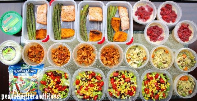 Meal Prep - Week of March 7th - Peanut Butter and Fitness