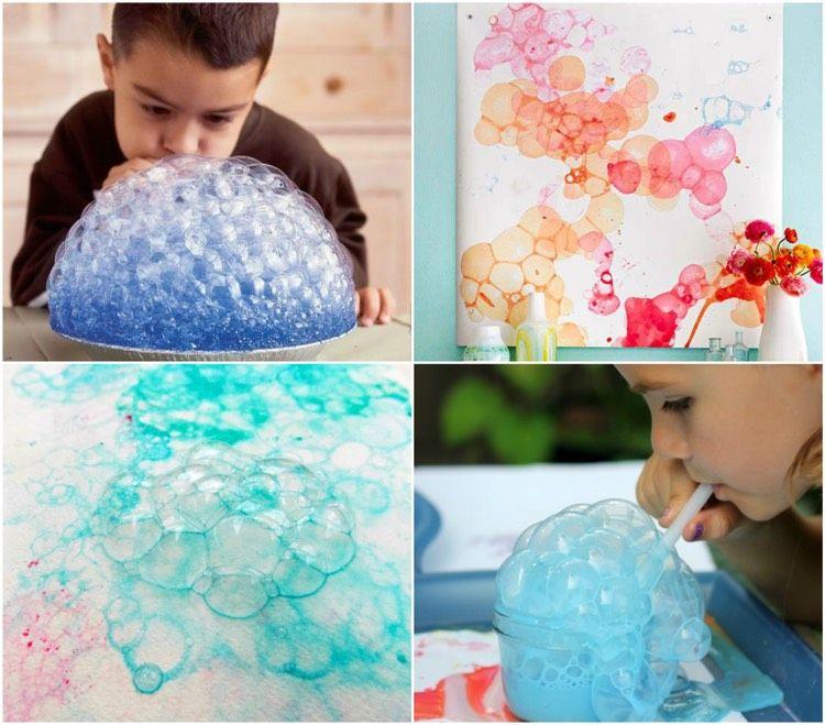 kreative zeichentechniken zum malen mit kindern 28 originelle ideen maltechnik f r kids. Black Bedroom Furniture Sets. Home Design Ideas