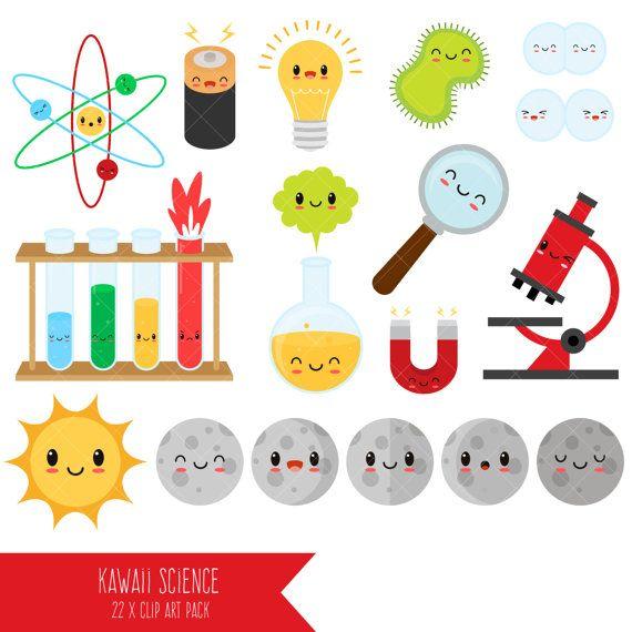 kawaii science clipart lab clip art scientist