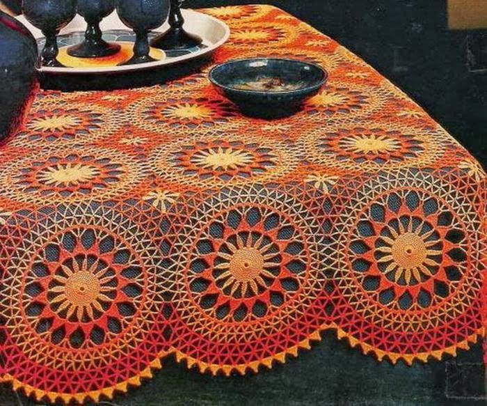Arte Crochet: Modelo del ganchillo del mantel - ganchillo vintage ...