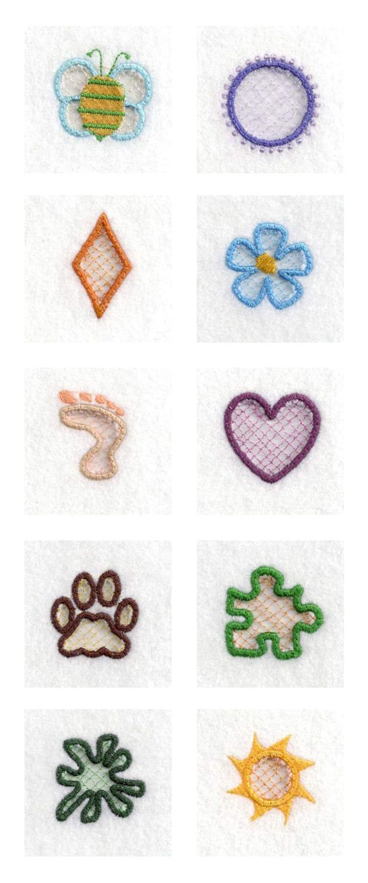 Cut Out Charms Embroidery Machine Design Details Designs By Sick