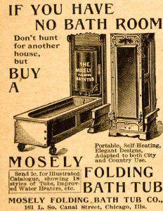 Folding Tub Retro Advertising For Bathrooms Vintage