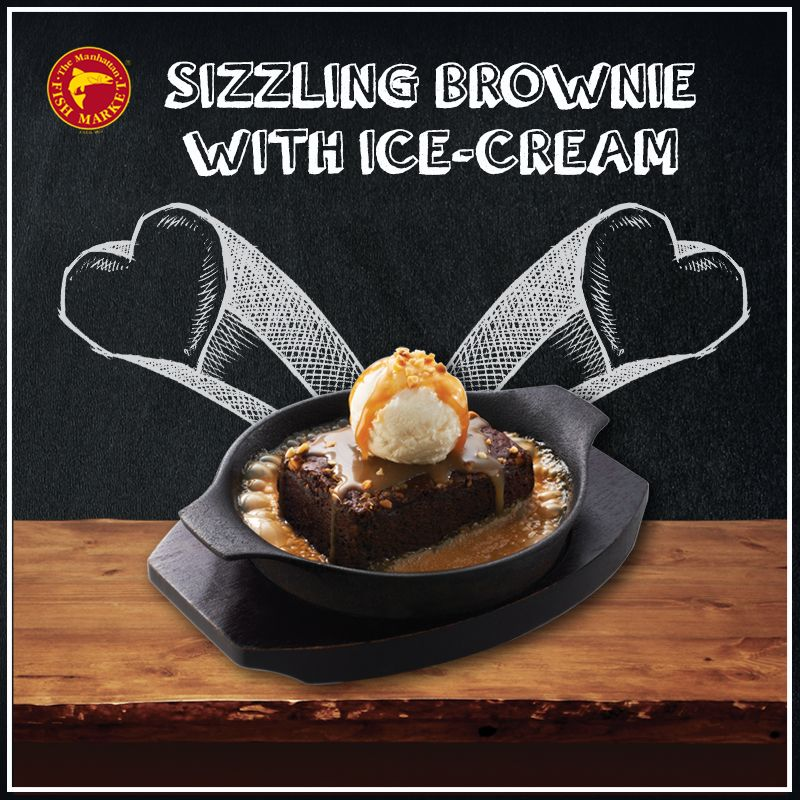 ‪#‎Enjoy‬ the ‪#‎harmony‬ of a ‪#‎warm‬ ‪#‎sizzling‬ ‪#‎brownie‬, topped with ‪#‎smooth‬ ‪#‎vanilla‬ ‪#‎icecream‬ in ‪#‎sweet‬ ‪#‎caramel‬ ‪#‎sauce‬ and ‪#‎nuts‬.