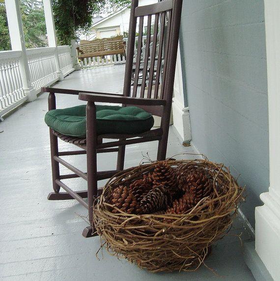 Wild Vine Basket Nest for Lawn or Porch Display Eco by bazketmakr, $35.00