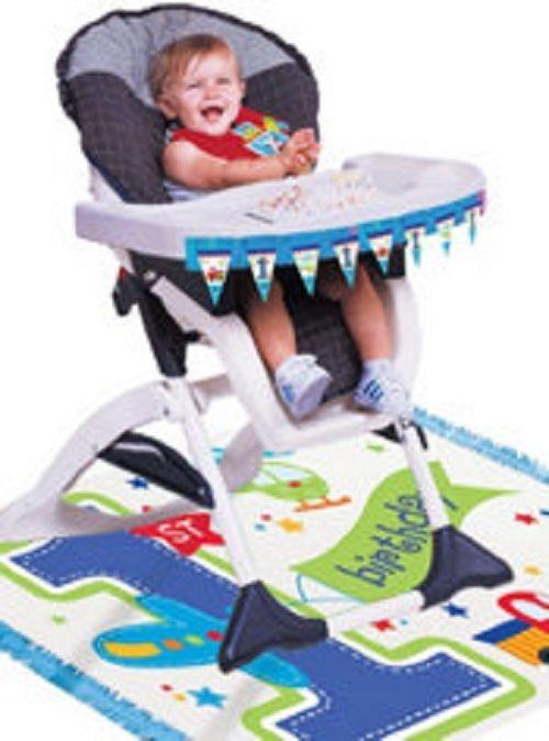 All Aboard 1st Birthday Boy High Chair Decorating Kit 1st Boy Birthday 1st Birthday Party Themes 1st Birthday Party Supplies