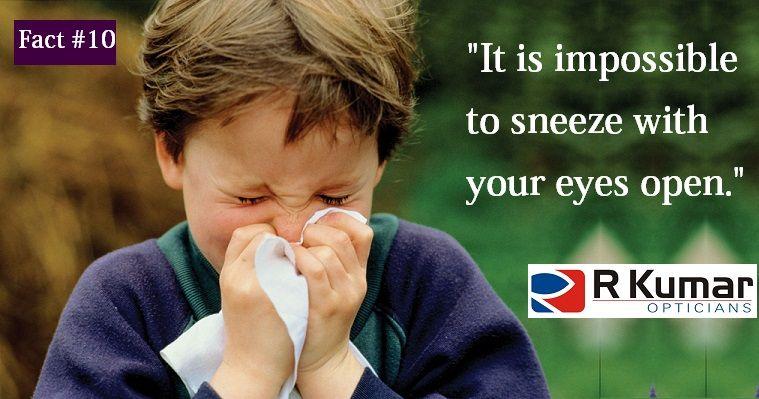 Your eyes close involuntarily while sneezing.
