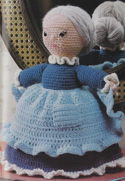 Vintage Crochet Dancing Granny Stuffed Doll Toy Pdf Pattern Instant