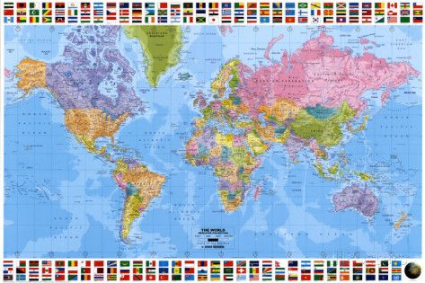 World map political 2001 mapas pster y comprar world map political 2001 gumiabroncs Choice Image