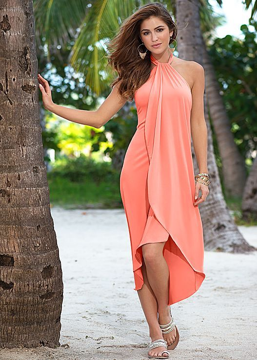 A Stunning Silhouette Venus Waterfall Maxi Dress And
