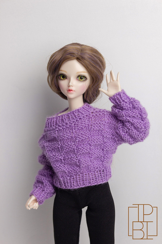 Minifee Doll Sweater - Knitting Pattern for Slim MSD | BJD ...