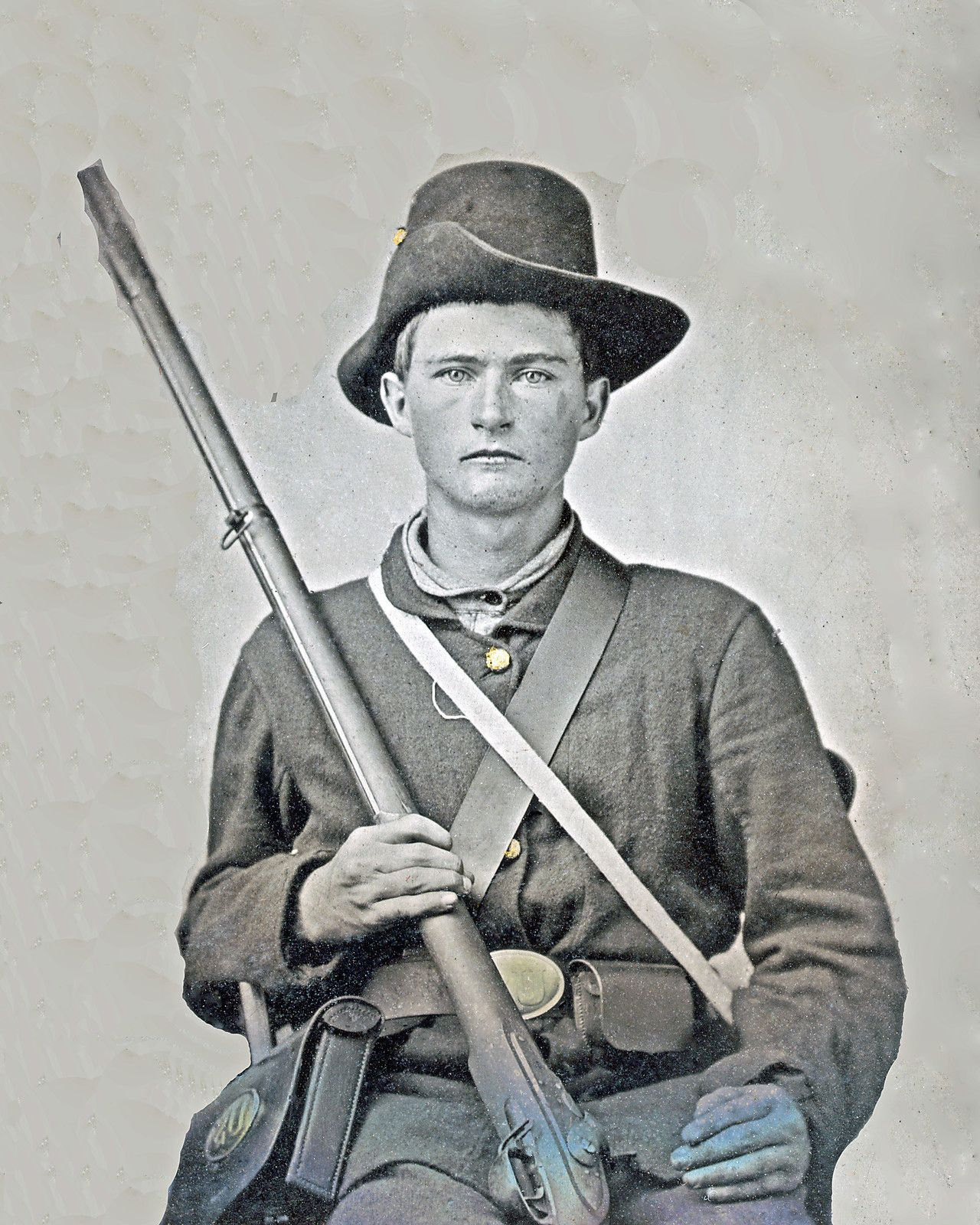Image result for ambrotype soldier with 1842 musket""
