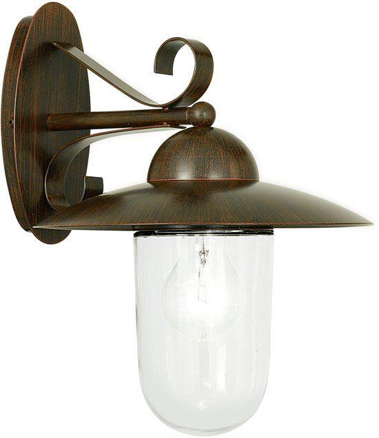 EGLO Milton - Buitenverlichting - Wandlamp - 1 Lichts - Antiek-Bruin - Helder