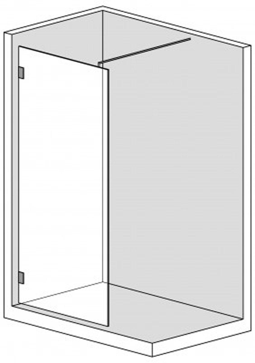 Walk in Duschabtrennung Echtglas Dusche Duschtüren wi6200