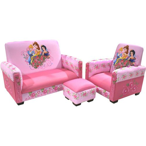 Tremendous Disney Princess Jeweled Gardens Sofa Chair And Ottoman Bralicious Painted Fabric Chair Ideas Braliciousco