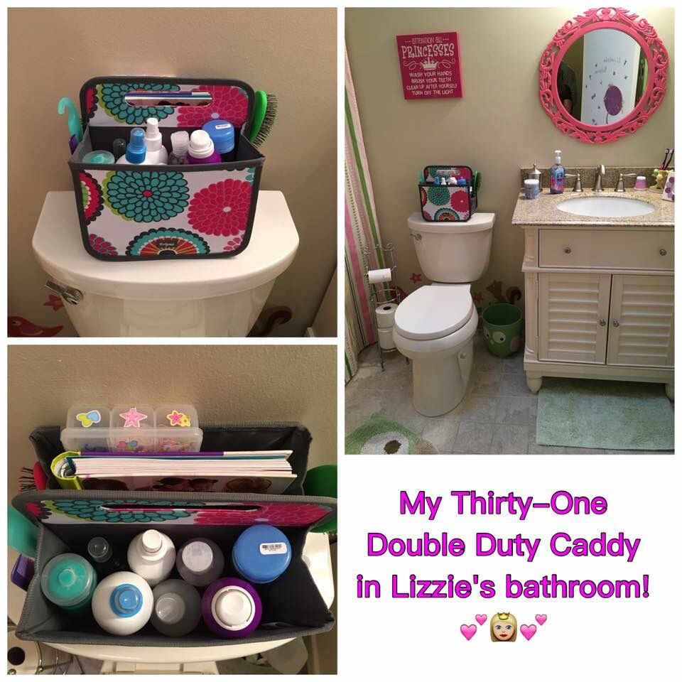 A Perfectly Organised Bathroom In One Day: Thirty One Double Duty Caddy. Perfect!!