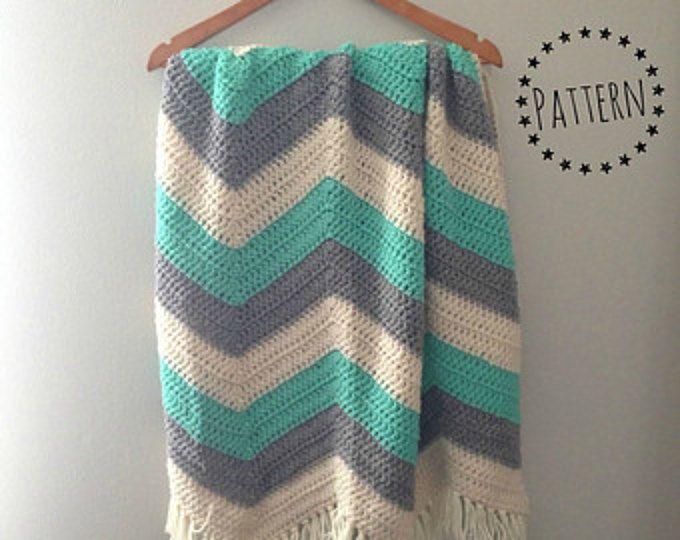 Chevron Crochet Baby Blanket Pattern | Häkeln | Pinterest | Häkeln