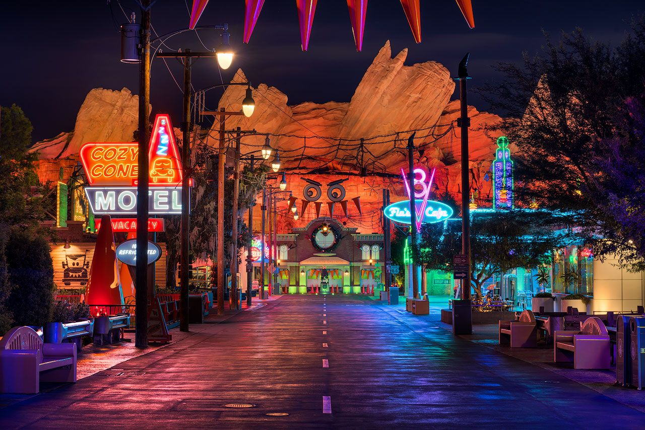 Cars land with images cars land disneyland california