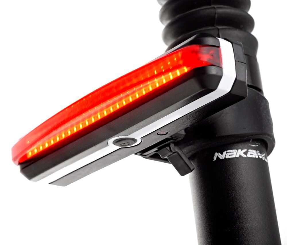Bike Tail Light USB Rechargeable, 100 Lumens Red LED, Extremely Bright Bicycle Rear Light, 180-degree Visibility for Maximized Safety, 6 Light Modes, Easy Install, Water Resistant Rear Bike Light