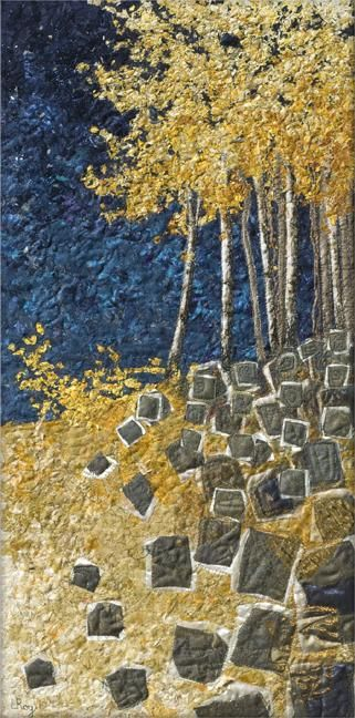 Paper Birch Tapestry - Textile art by Lorraine Roy