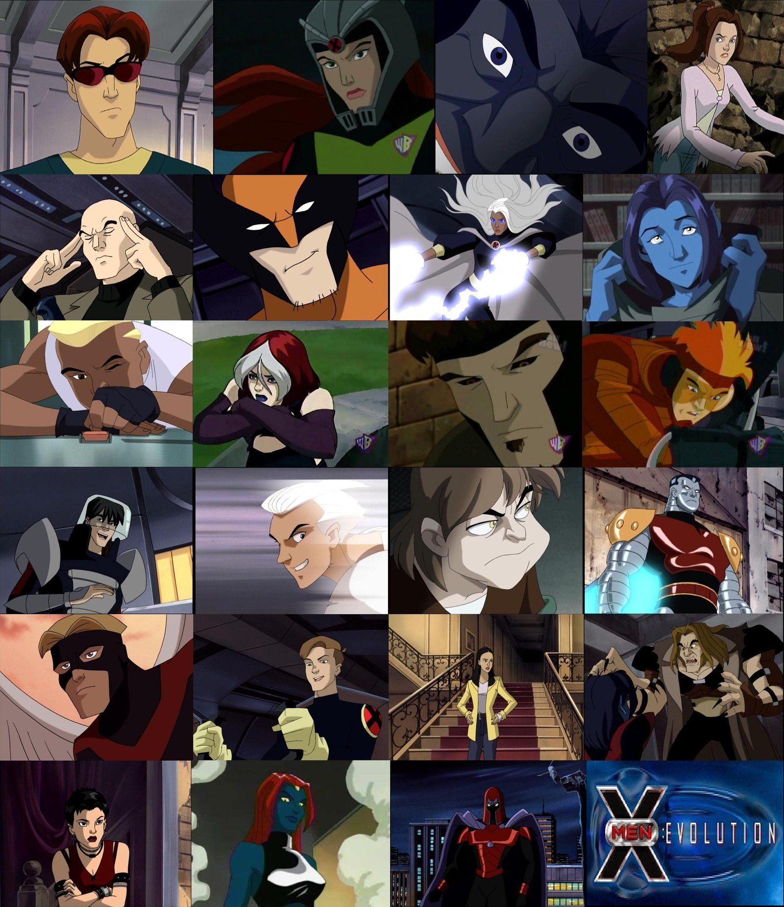 X Men Evolution Characters By The Rogue Whisper On Deviantart X Men Evolution X Men Wolverine Xmen