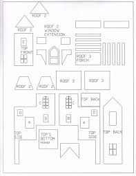 gingerbread house template with porch  gingerbread house templates | Gingerbread house patterns ...