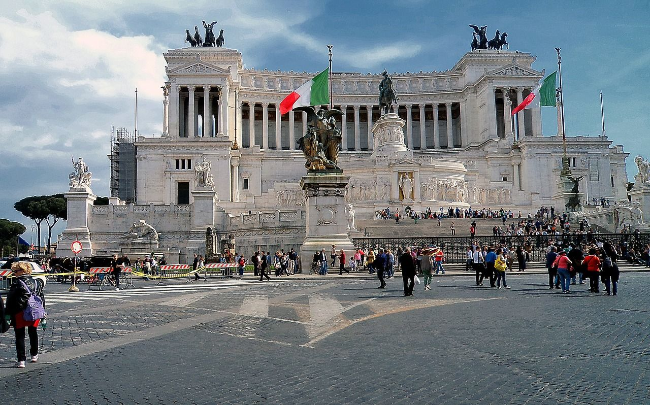 Italy, Statue Of Emmanuel Ii, Monument #italy, # ...