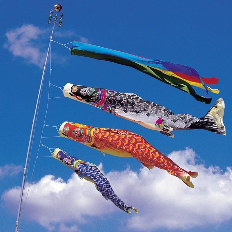 100cm koinobori japanese carp streamer wind socks koi for Japanese fish flag