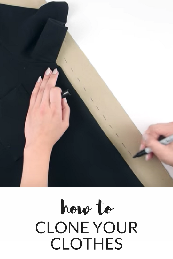 The Easiest Way To Make Patterns From Your Own Clothes #sewinglessons