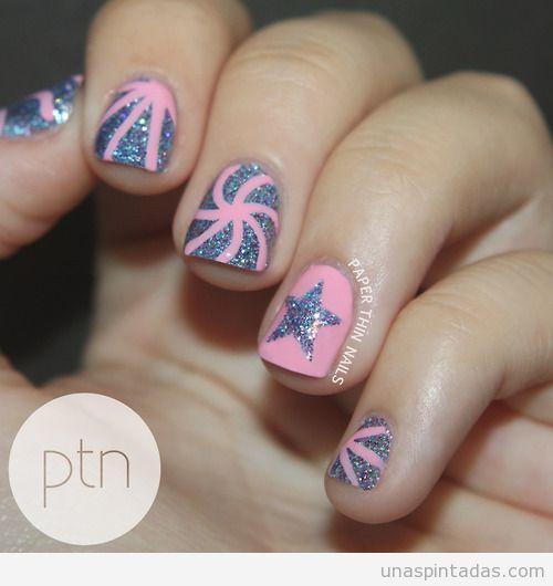 Dise os de u as con estrellas nails moda en manos y pies - Disenos de unas pintadas ...