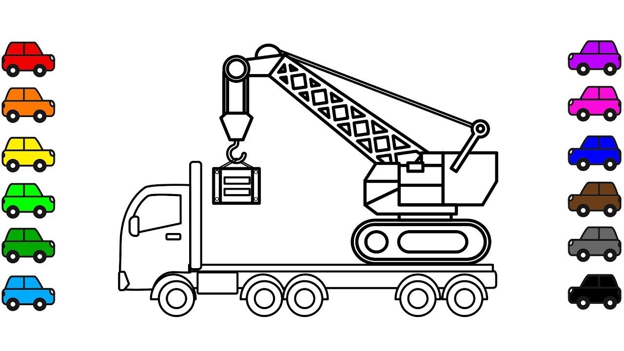 31+ Crane truck coloring page info