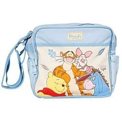 You can get this Disney Baby Winnie The Pooh Blue Mini Diaper Bag from Amazon for about $20.00. #DiaperBagBlog