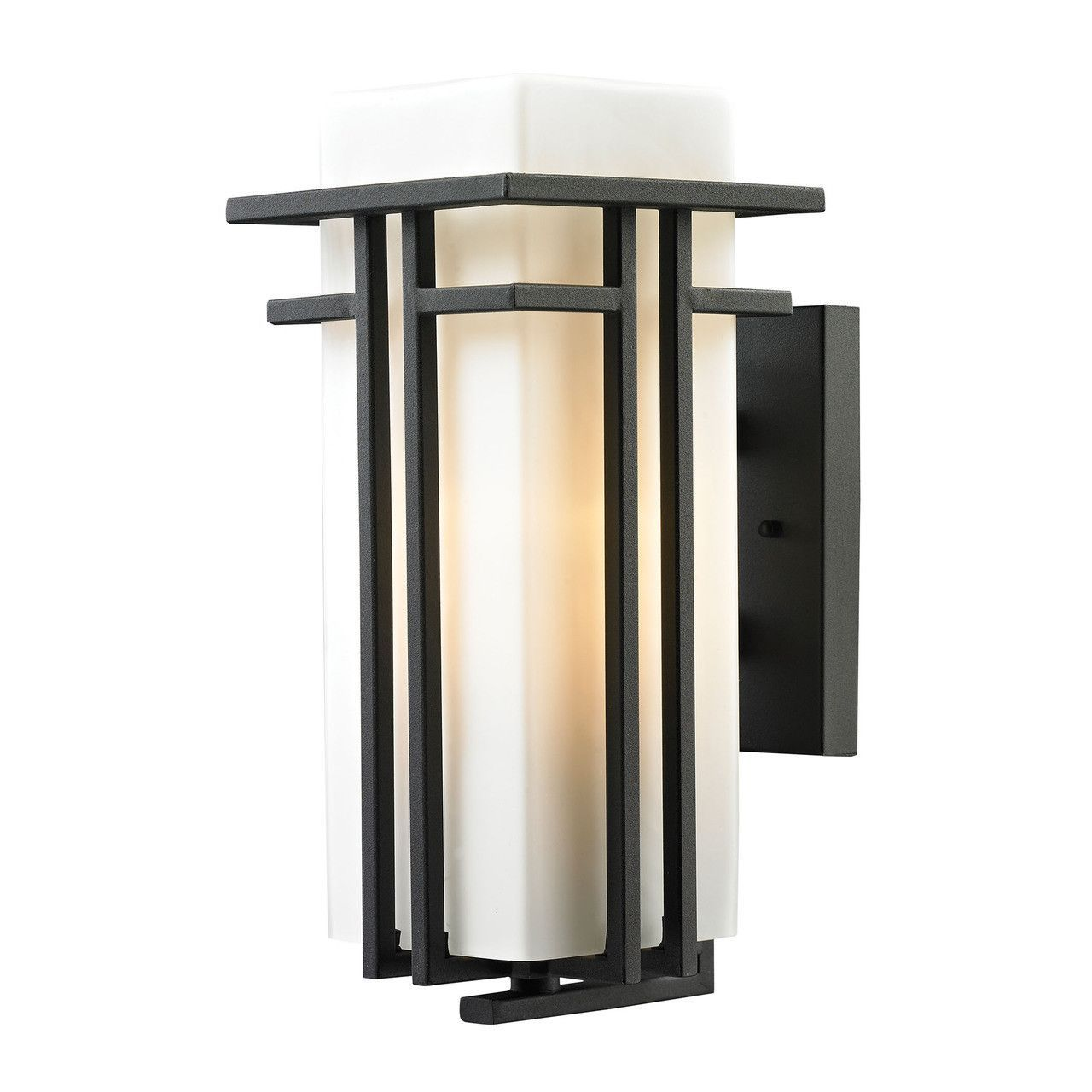 Croftwell Light Outdoor Sconce In Textured Matte Black