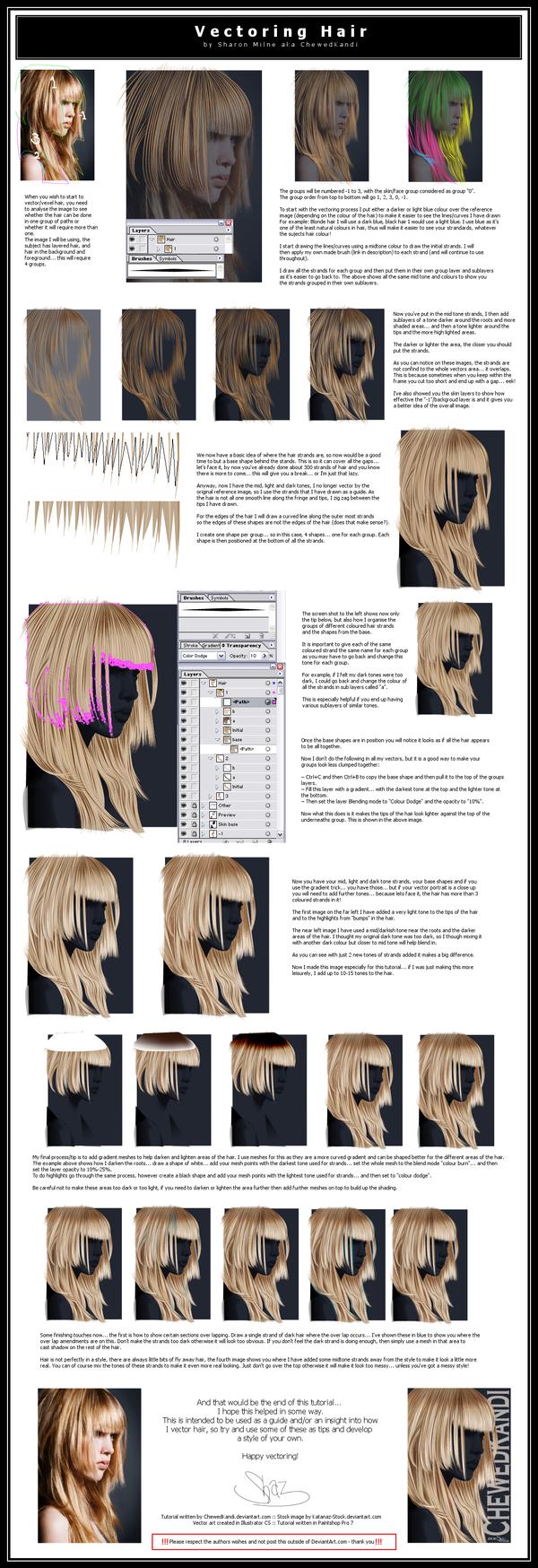 Vectoring Hair by ChewedKandi on deviantART
