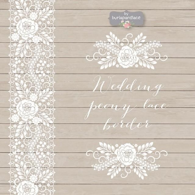 Shabby Chic Wallpaper Border peony lace border wedding